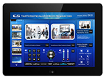 8 inch desk mount wired programmable touch panel